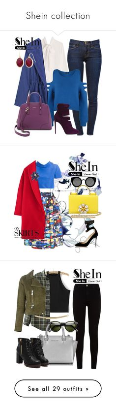 """""""Shein collection"""" by yinggao ❤ liked on Polyvore featuring Frame Denim, Valentino, WearAll, WithChic, Giuseppe Zanotti, Furla, Liz Claiborne, women's clothing, women and female"""