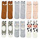 $11.99 - Unisex Baby Girls Socks,Gellwhu 6 Pairs Toddler Boy Animal Knee High Socks