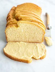 Keto Cloud Bread - Easy Low Carb Burger Buns, Essentially Carb Free Coconut Flour Banana Bread, Coconut Bread Recipe, Coconut Recipes, Healthy Recipes, Low Carb Recipes, Coconut Oil, Bread Recipes, Almond Flour, Banting Recipes