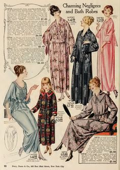 Negligees/Bath Robes 1920's