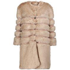 Ainea Faux fur and satin coat