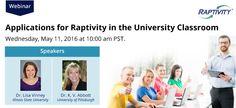 Webinar on Applications for Raptivity in University Classroom