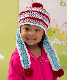 Snowy Day Earflap Hat Crochet Pattern