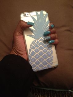 iPhone 6 Plus Case by shop-milkyway.com Blue Pineapple! Love It!!! #Iphone6Cases