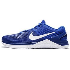 size 40 2b42c cb381 NIKE Mens Metcon DSX Flyknit Deep Royal BlueWhite 9 M US *** Click image