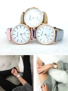 Love these watches!! | Classic Minimalist Watch | Jane | women's accessories | women's watches | watches | vegan leather band | #watches #veganleather #vegan #minimalist #womens #accessories #ad