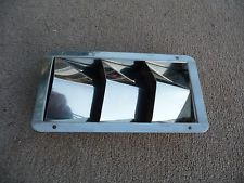 THREE SLOT LOUVRED AIR VENT-  STAINLESS STEEL - BOAT or CAR - HULL ENGINE VENT