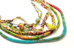 Shop for on Etsy, the place to express your creativity through the buying and selling of handmade and vintage goods. Braided Scarf, Braided Necklace, Tribal Necklace, Multi Strand Necklace, Hippie Jewelry, Tribal Jewelry, Unique Jewelry, Textile Jewelry, Fabric Jewelry