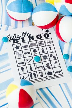 Free Printable July 4th Bingo