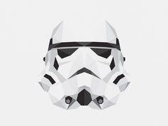 Star Wars Character Illustrations by Tim Lautensack, via Behance - Storm Trooper Star Wars Icons, Star Wars Poster, Star Wars Characters, Star Wars Art, Star Wars Wallpaper, Cool Wallpaper, Batman Wallpaper, Posters Geek, Cuadros Star Wars