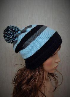 Womens Skiing Hat Knit Striped Beanies by kristineshopforyou