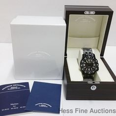 Brand New Muhle Glashutte Marinus Date M1-28-33 Black Watch Box Papers Tags #MhleGlashtte #Sport