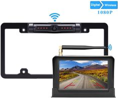 LeeKooLuu HD Digital Wireless Backup Camera Display High-Speed Observation System for Cars,RVs,Pickups,Trucks,Campers Waterproof License Plate Camera Front/Rear View Night Vision Clear Camera Crafts, Wireless Backup Camera, Plate Camera, Instax Camera, Best Digital Camera, Technology World, Truck Camper, Hd 1080p, Night Vision