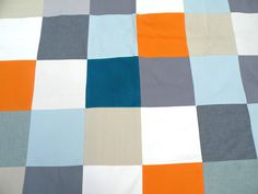 fichu chiffon picninc blanket: square head: blue n' orange www.lacabaneatelier.com