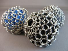 New to AthenasArmoury on Etsy: Chainmaille Stress Balls Hackey Sacks Juggling Balls - Blue or Gray (45.00 USD)