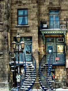 (3) Tumblr -  Twin Stairways, Montreal, Canada -     photo via lauren