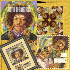 US Stamps - Music Icon Pop Artists 1960s Jimi Hendrix