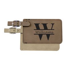Travel in style with the Personalized Leather Luggage Tags. They are a great gift for the special man, woman, business traveler or anyone that
