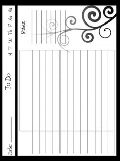 Free Customizable Daily To Do Flower Planner