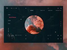 Minimal web design dark mode. Abstract M. by Ani Harutyunyan