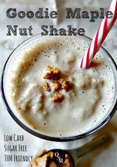 This Goodie Maple Nut Shake is reminiscent of a classic candy from my childhood but it's sugar-free, low carb and good for you! THM friendly, too. Click here for easy recipe.
