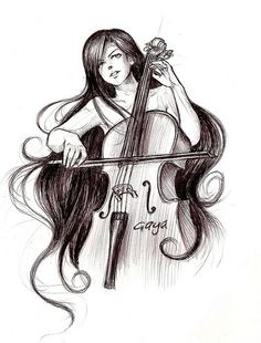 Cello art. Pretty!