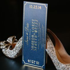 Save the date for Old Hollywood themed wedding - Chicago wedding planner