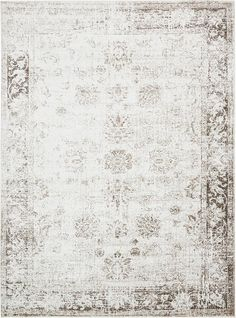 """This Turkish Monaco rug is made of Polypropylene. This rug is easy-to-clean, stain resistant, and does not shed. Colors found in this rug include: Ivory, Brown, Tan. The primary color is Ivory. This rug is 1/3"""" thick."""