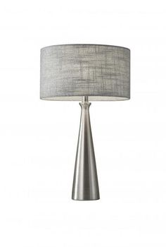 6c2af0936df3 Adesso Linda Table Lamp In Silver 1517-22 Light Decorations