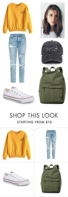 """Untitled #156"" by ladivazamendes on Polyvore featuring GRLFRND, Converse and Herschel Supply Co."