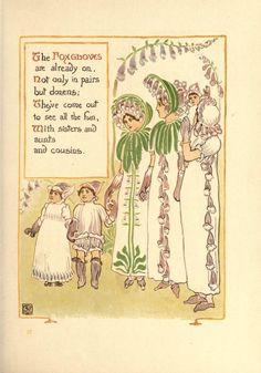 Walter Crane  -A floral fantasy in an old English garden