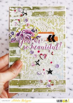 Card for Beautiful person Lemon Owl DT