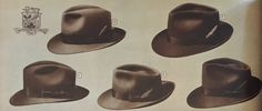 mens hats came in several common styles such as the fedora, trilby, straw hat, homburg and porkpie. Learn about and buy style vintage men's hats 1920s Mens Hats, 1940s Fashion, Vintage Fashion, Safari Jacket, Fedora Hats, Men's Hats, Hats For Men, Vintage Men, My Style