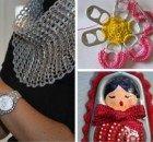 Estos son 10 de los trucos que usan las lavanderías para dejar la ropa impecable. - 10 Ideas Crochet Earrings, Crochet Hats, Sealing Wax, Flower Rings, Knitting Scarves, Diy Crafts, Creative Crafts, House Decorations, Knitting Hats