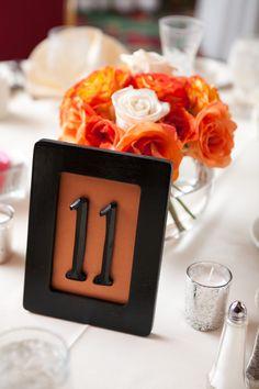 Adorable table numbers! #Minnesota #weddings