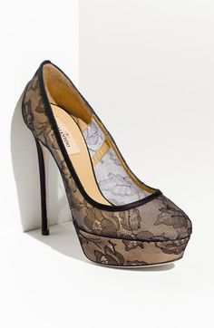 Valentino 'Bridal' Platform Pump available at #Nordstrom  this is a Ridicules insane, beutiful SHOE!