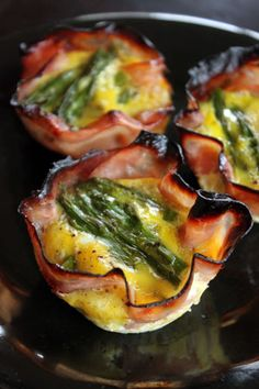 Quick Asparagus and Ham Egg Cups