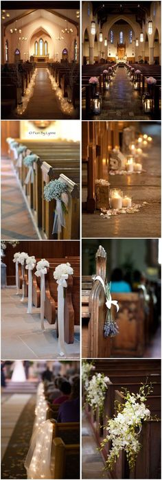 Wedding Decorations For Church Aisle Centerpieces - 21 Stunning Church Wedding Aisle Decoration Ideas To Steal Wedding Church Aisle, Wedding Table, Rustic Wedding, Trendy Wedding, Diy Wedding, Church Pews, Wedding Ideas, Decor Wedding, Church Ceremony Decor
