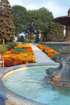 Fountain at Rockway Gardens, Kitchener, Ontario,    greenbowlsguy, via Flickr