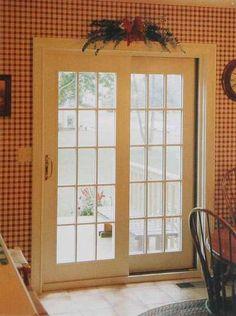 Patio doors on pinterest sliding patio doors door for Sliding doors that look like french doors