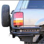 PreRunner Rear Bumper with Tire Rack for the Grand Ford Bronco Parts, Off Road Parts, Jeep Zj, Jeep Grand Cherokee Zj, Tire Rack, Receiver Hitch, Truck Mods, Rear Ended, Cool Trucks