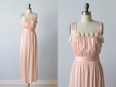 Vintage 1940s Nightgown / 40s Lingerie / by TheVintageMistress