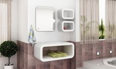Conjunto para Banheiro Play Mobile Branco