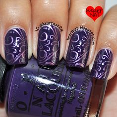 Purple on purple nail art