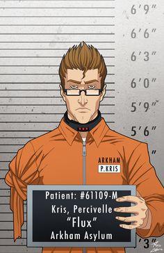 Percy Kris locked up commission by phil-cho on DeviantArt Marvel Dc, Dc Comics Action Figures, Deadpool Funny, Hq Dc, Comic Villains, Arkham Asylum, Batman Arkham, Batman Art, Detective Comics