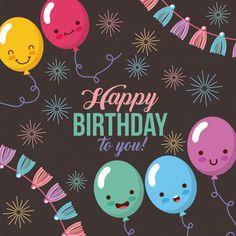 Happy 11th Birthday, Happy Birthday Template, Happy Birthday Wishes Quotes, Birthday Wishes And Images, Cute Birthday Cards, Bday Cards, Happy Birthday Greetings, Happy Wife, Happy Birthday Drawings