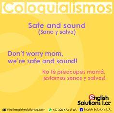 COLOQUIALISMOS. Spanish Phrases, Spanish Vocabulary, Spanish Language Learning, English Phrases, How To Speak Spanish, English Words, English Tips, Spanish English, English Class