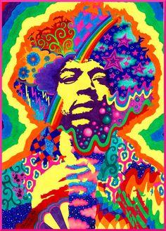 Jimi Hendrix by Christine Manuela Moje