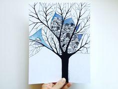 VOICI LES ILLUSTRATIONS ACTUELEMENT DISPONIBLES: Chez moi, 21x21cm, (oeuvre unique... - Aleksandra Sobol - Illustrations & Handmade