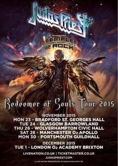 judas priest uk tour 2015 - Google Search